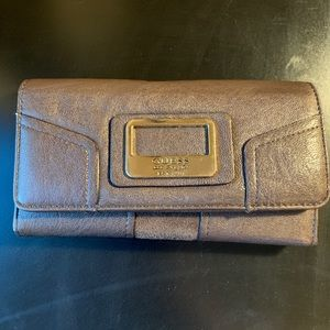 Guess wallet; brown with cute lining